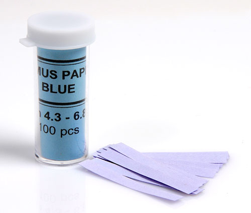 PH TEST PAPER, BLUE LITMUS, 100/PK